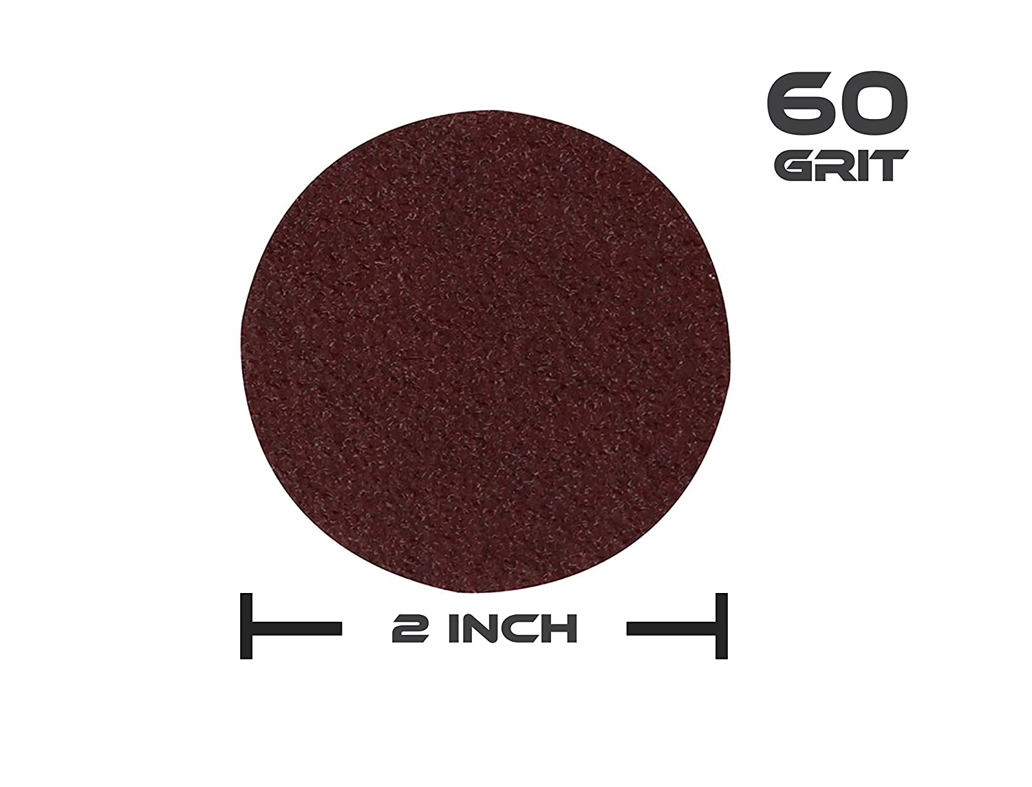 """Metal Wheels for Surface Prep and Finishing 2/"""" Inch ABN Aluminum Oxide Roloc Abrasive Sanding Discs 50-Pack 240 Grit"""