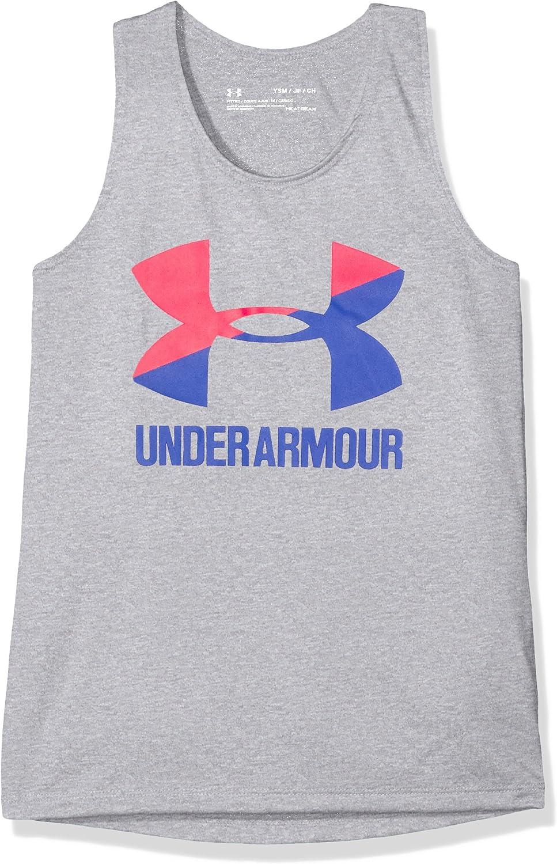 Under Armour M/ädchen Big Logo Slash Tank Top