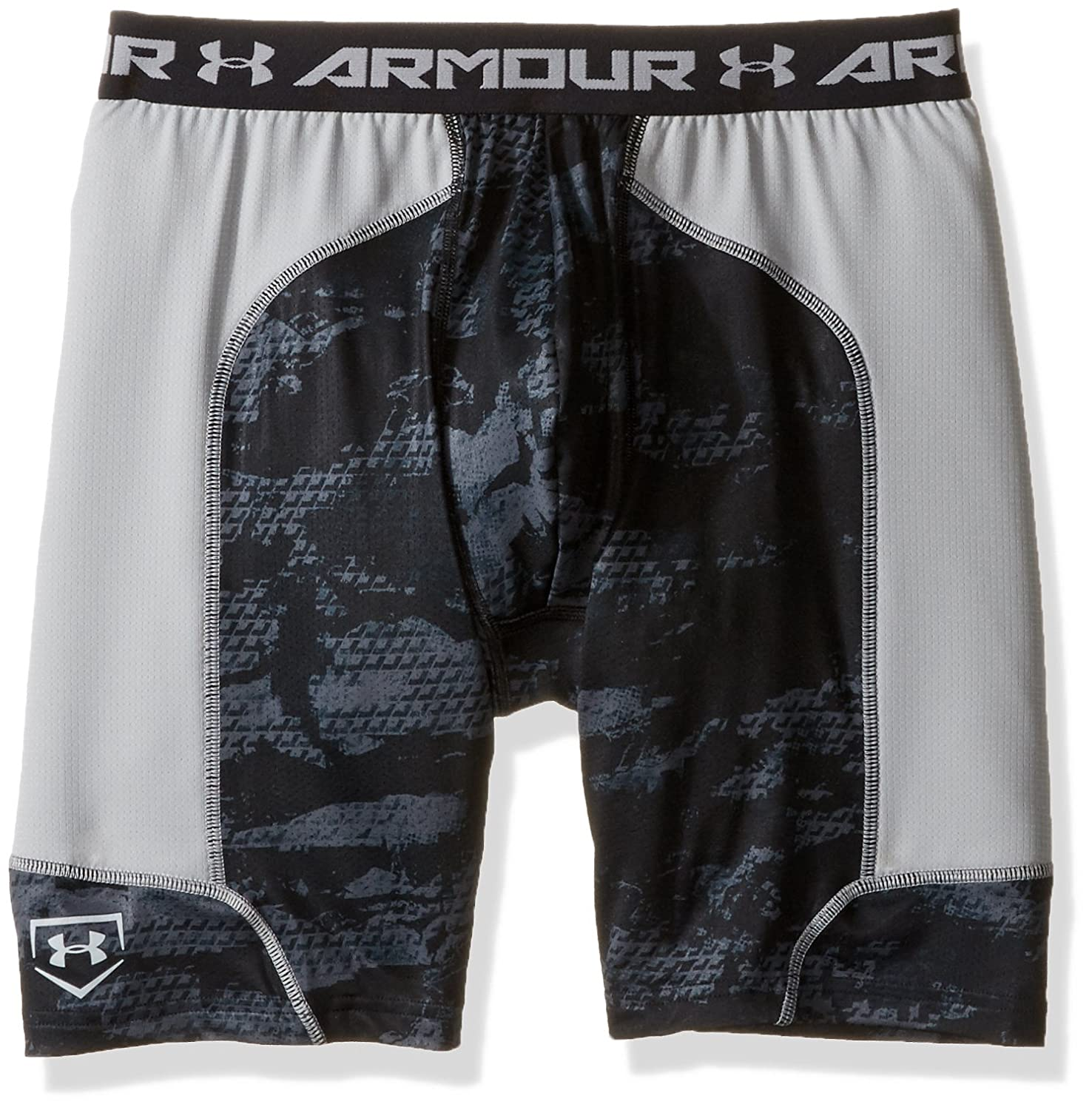 Under Armour Boys ' Noveltyスペーサスライダ B018S04HFW Youth Medium|Black/Baseball Gray Black/Baseball Gray Youth Medium