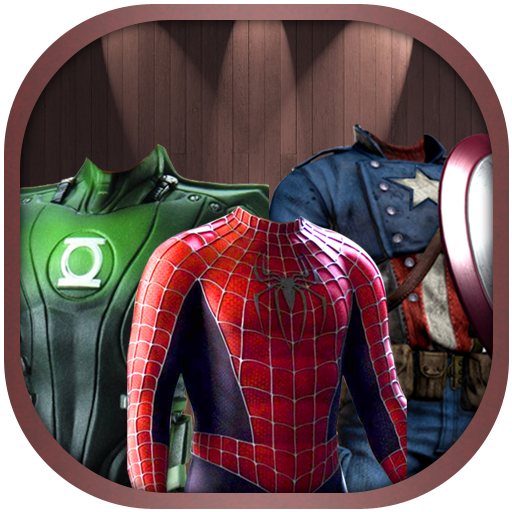 Superhero Face Photo Suit - On Try Frames Face My