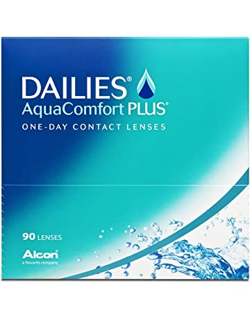 eb6e1bf468cb8 Dailies Aqua Comfort Plus - Lentes de contacto esféricas diarias (R 8.7   D  14