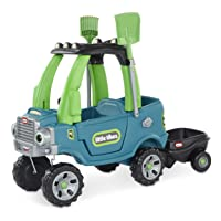 Little Tikes Go Green! Cozy Truck w/ Trailer & Garden Tools for Kids | Recycled...
