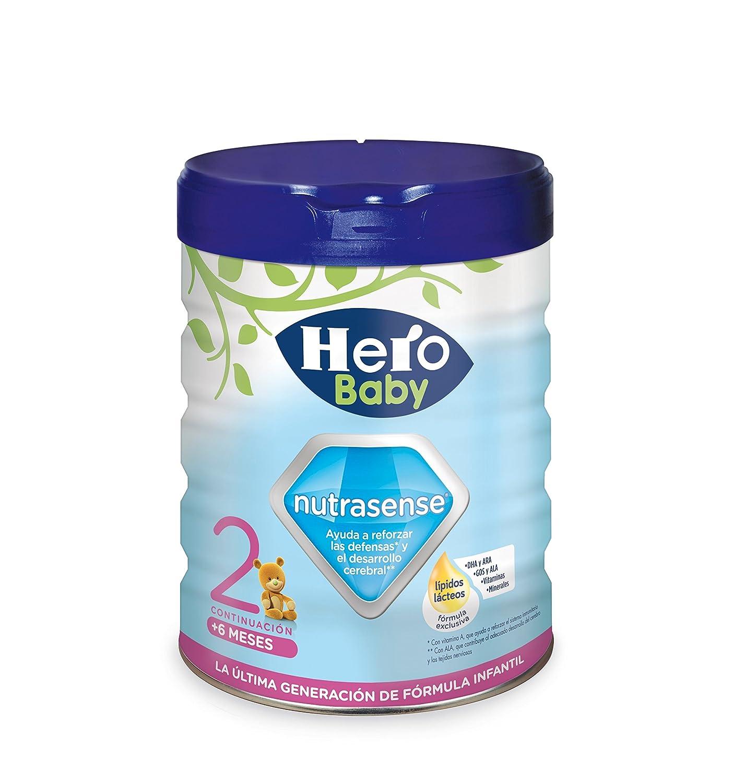 Hero Baby Leche Hbb Nutrasense, Leche Infantil 2, de 6 a 12 Meses - 800 g: Amazon.es: Amazon Pantry