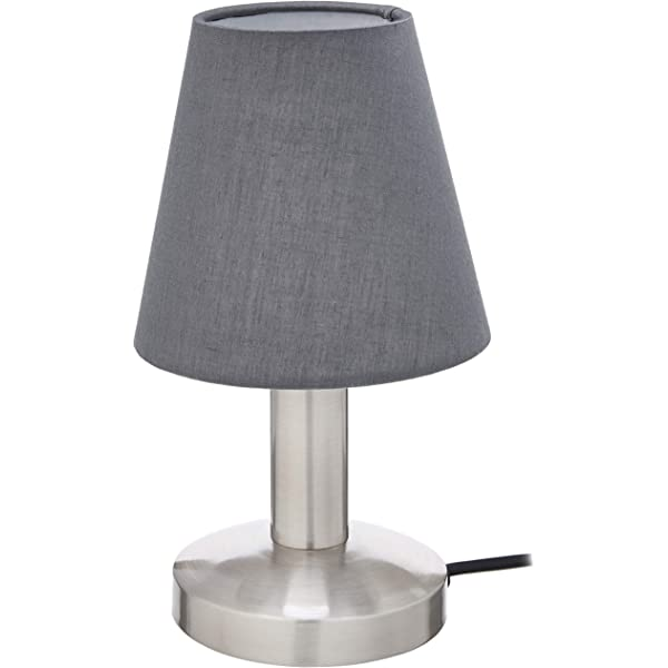 10.5 UMI Table Lamp Fabric Shade with Round Metal Base