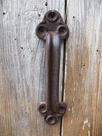 9u0026quot; Heavy Duty Cast Iron Rustic Garden Gate Shed Barn Pull Door Handle  Hardware