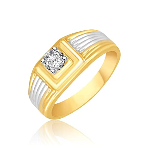 Miami Jewellery Valentine Birthday Gifts Styish Party Wear Gold Wedding Rings For Men Man Boys Gents Boyfriend Ring MR103 Plated