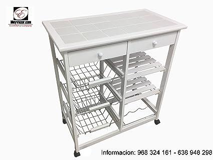 Verdulero cocina Bahia 3 (Blanco): Amazon.es: Hogar