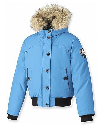 202821ace0d86 Amazon.com  Alpinetek Big Girls  Down Bomber Jacket  Clothing