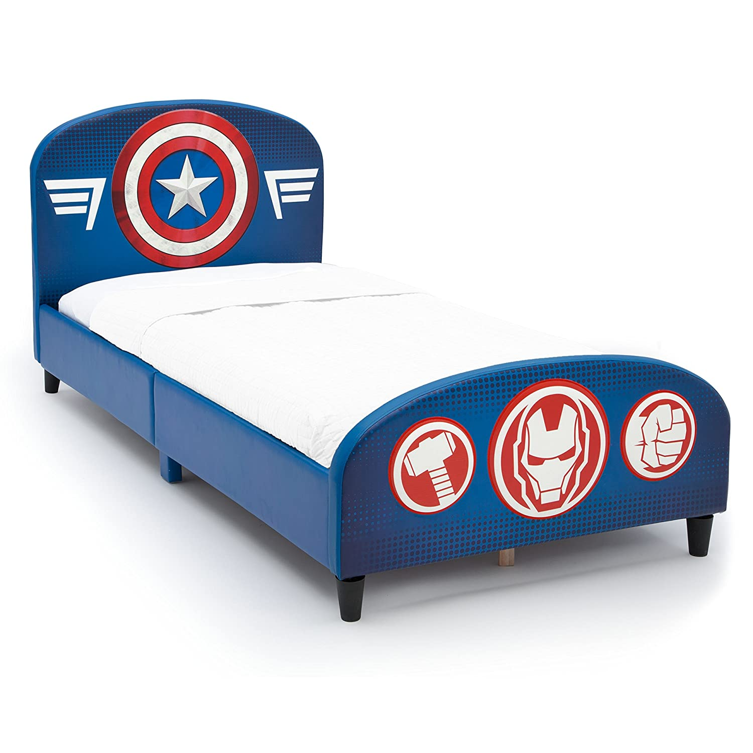 Upholstered Twin Bed, Marvel Avengers