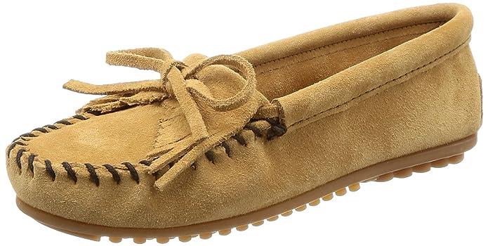 Minnetonka Kilty Suede Moc, Mocasines para Mujer: Amazon.es: Zapatos y complementos