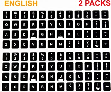 REPLACEMENT ENGLISH US KEYBOARD STICKER WHITE  F//COMPUTER LAPTOP ONLINE-WELCOME®