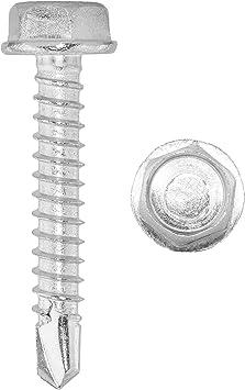 Sechskant-Bohrschrauben 6,3 X 22 DIN 7504 Form K - V2A Schnellbauschrauben m selbstschneidend Edelstahl A2 Sechskantkopf u Bund f/ür Weichmetalle z.B. Aluminium 10 St/ück