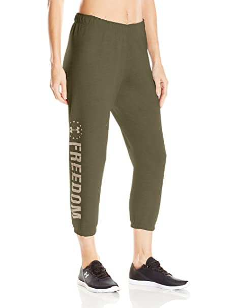 98edc1eaba0a4 Amazon.com: Under Armour Women's Freedom Favorite Fleece Capris: Clothing