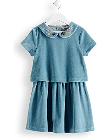 5e3d8c36f472a RED WAGON Robe en Velours Col Brodé Fille