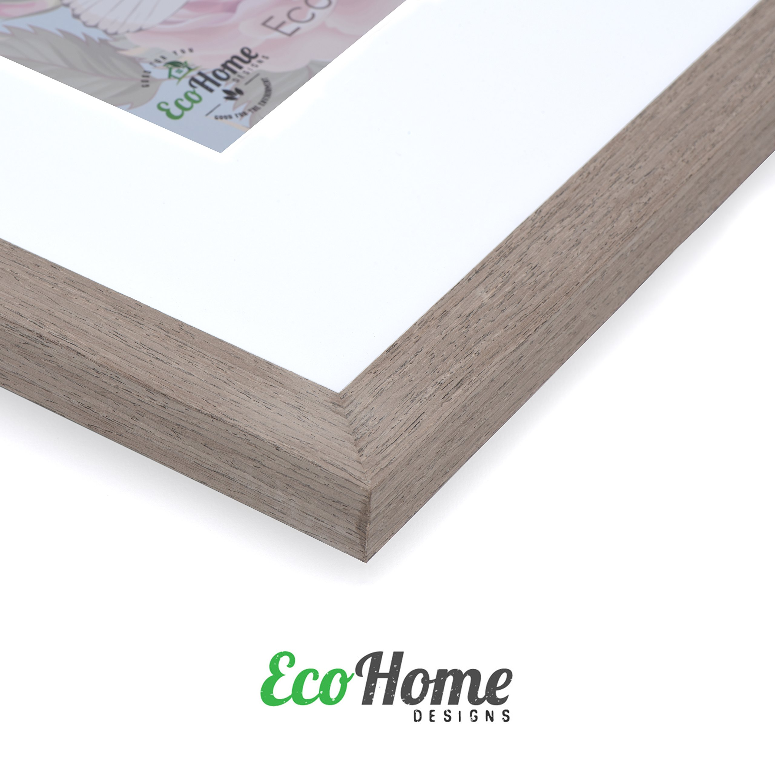 11x14 Picture Frame Walnut Wood - Matted to 8x10, Frames by EcoHome by Eco-home (Image #3)