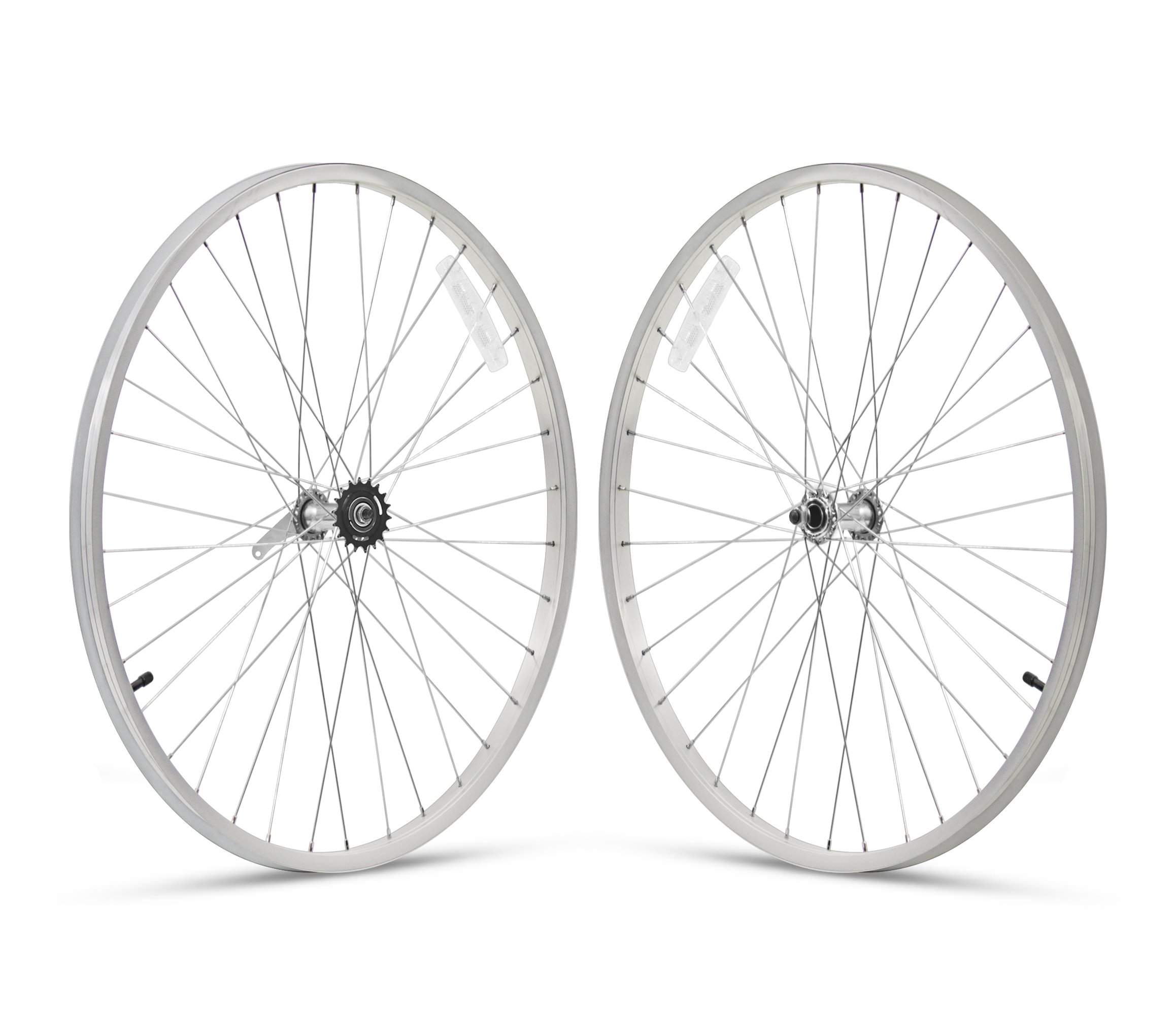 Firmstrong 1-Speed Beach Cruiser Bicycle Wheelset, Front/Rear, Silver, 24''