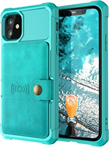 Case Compatible with iPhone 12 Pro Max 5G 2020 6.7 PU Leather Creen Protective Cash Credit Card Holder Durable High Capacity Kickstand Cover Shell for Women Men