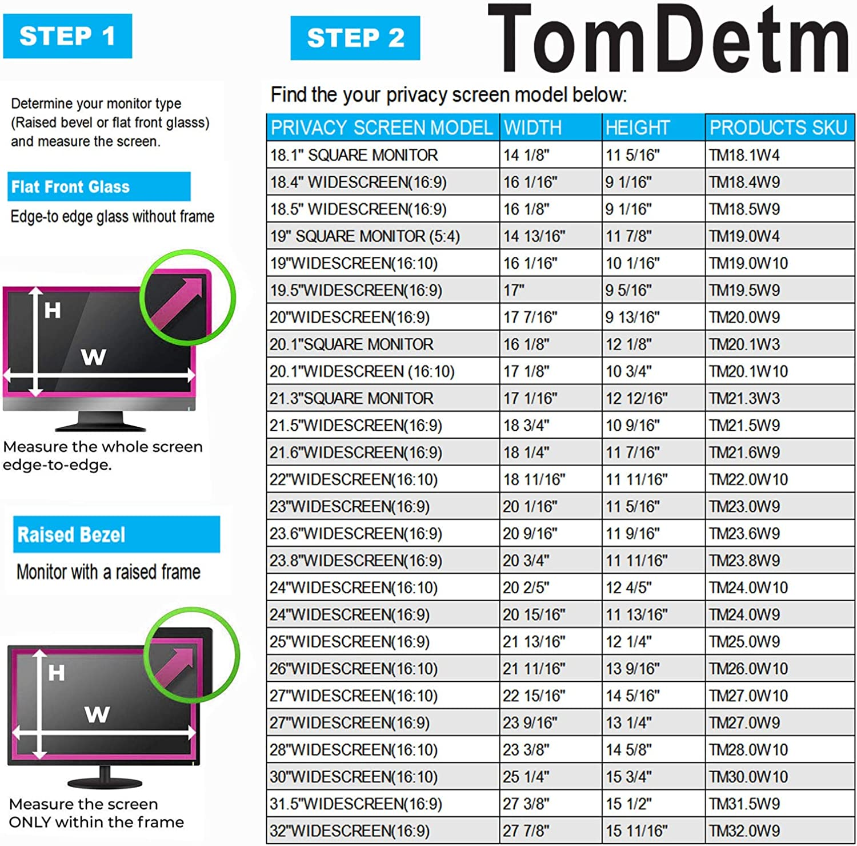 Blocks 96/% UV,Anti-Scratch with 16:9 Aspect Ratio Anti-Glare 16W Inch Privacy Screen Filter for Widescreen Laptop