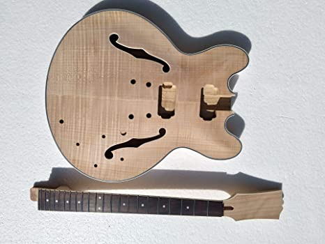 Proyecto Semi-Hollow cuerpo Kit constructor de guitarra eléctrica ...