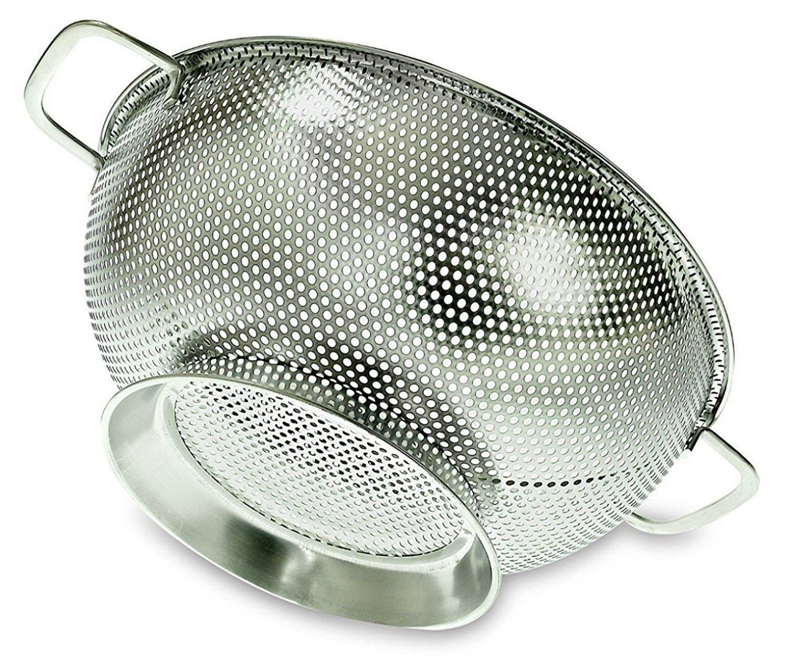 PriorityChef Colander, Stainless Steel 3 Qrt Kitchen Strainer With Large Stable Base by Priority Chef