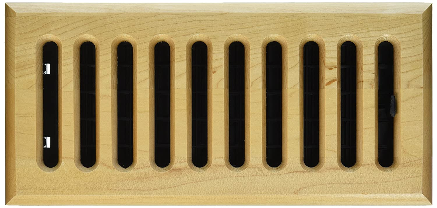 Decor Grates WML210-N 2-Inch by 10-Inch Wood Floor Register, Natural ...
