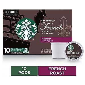 Starbucks French Roast Single Cup Coffee, 10 ct