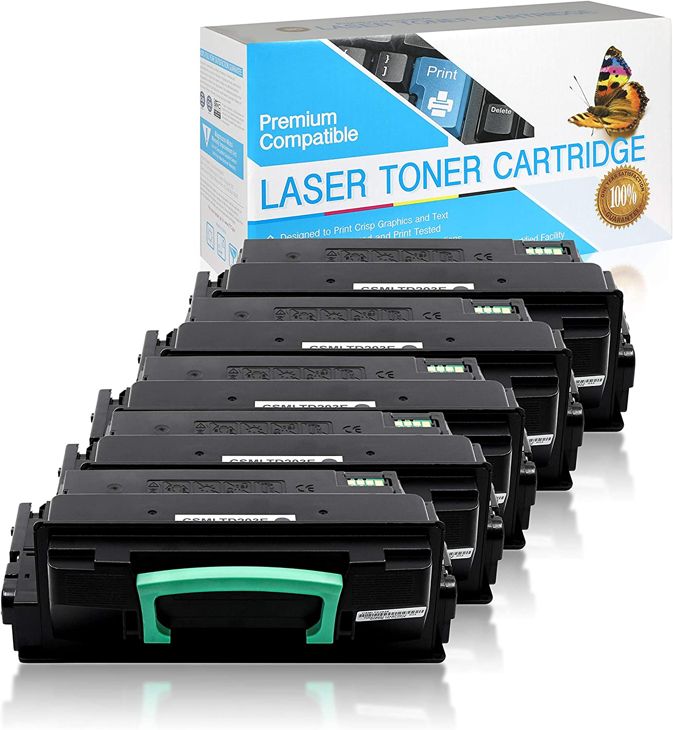 USA Advantage Compatible Toner Cartridge Replacement for Samsung MLT-D203E Extra High Yield Black,5 Pack MLTD203E