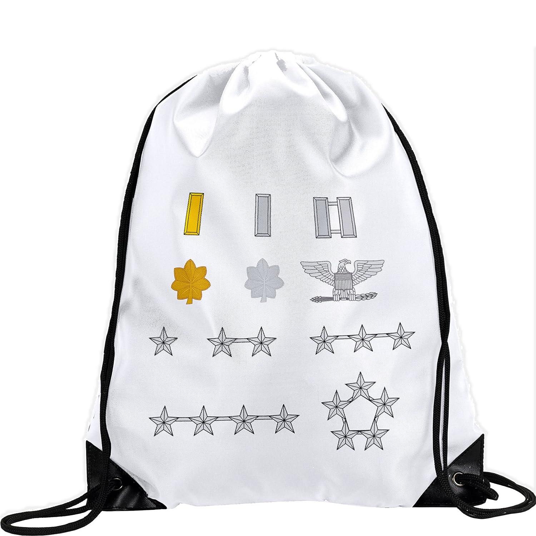 Large Drawstring bag with US Air Force OfficerランクInsignia – Long Lasting鮮やかなイメージ B01AYF2QDY