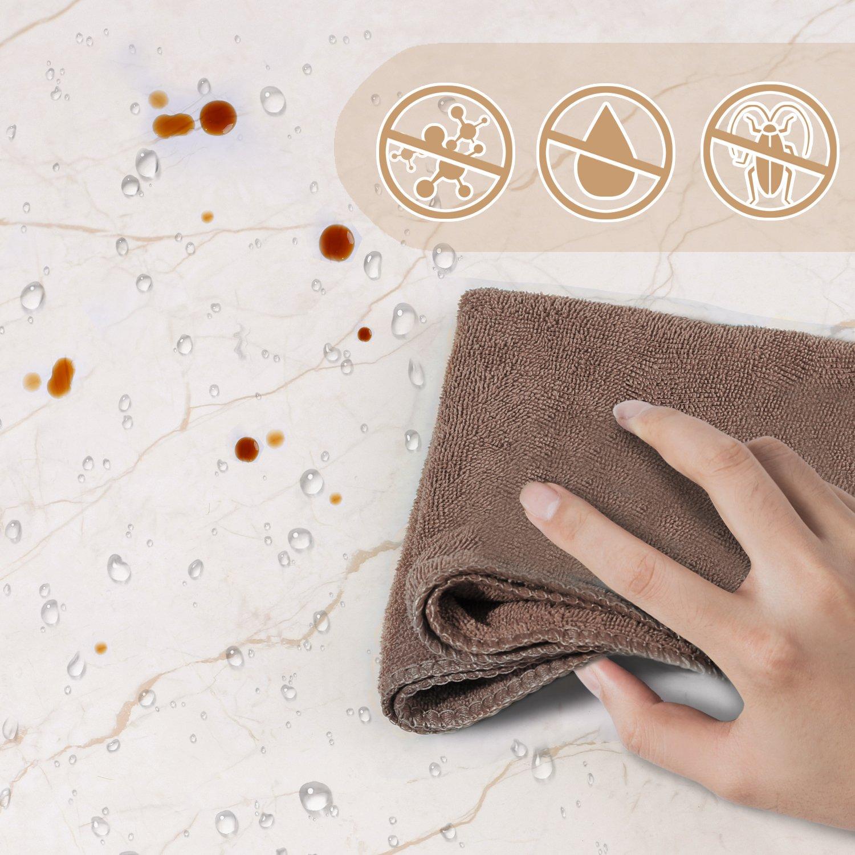 ... Decorativa Pegatina Marmol PVC Material, para Pared, Antibacteriano, Antifouling y Resistete a Humedad y Mancha de Grasa 44.5 * 200cm: Amazon.es: Hogar
