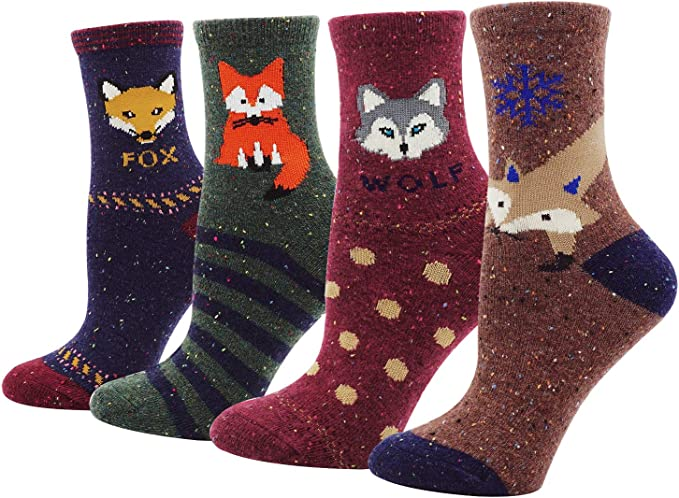 Rain Forest And Flamingo Casual Cotton Crew Socks Cute Funny Sock,great For Sports And Hiking