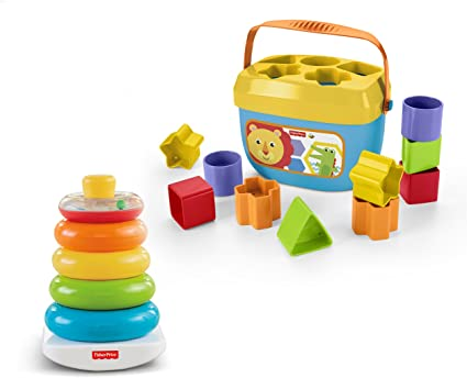 Amazon Com Fisher Price Rock A Stack Baby S First Blocks Bundle Toys Games