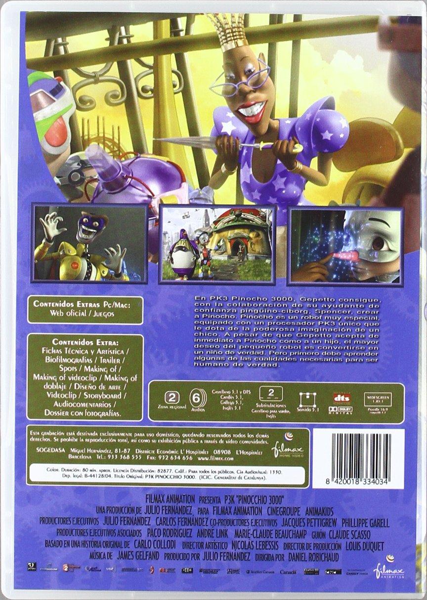 P3K Pinocho 3000 [DVD]: Amazon.es: Carlos Latre, Lucrecia ...