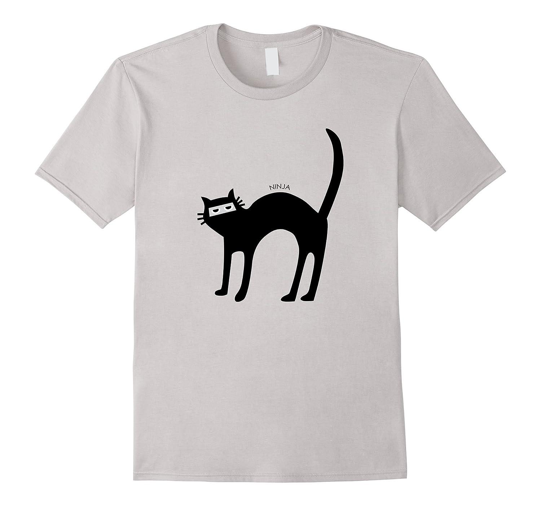 Ninja Cat Costume Funny Cute Halloween Shirt Gift Womens Kid Anz