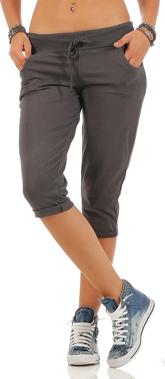 Malito Corto Pantaloni Monocolore Pantaloni della Tuta Baggy 83701 Donna Taglia Unica