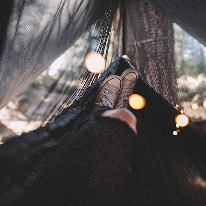 LinkHealth Hamaca de camping Bug /& Mosquito Net 360 /° de protecci/ón perfecta malla malla mantiene los insectos y mosquitos fuera se adapta a casi todas las hamacas
