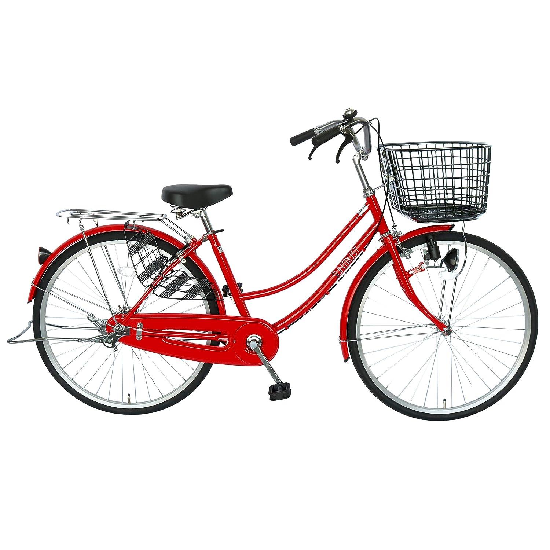 大きな幅広カゴの自転車 レッド OGK樹脂かご サントラスト   B01N5SHKWW