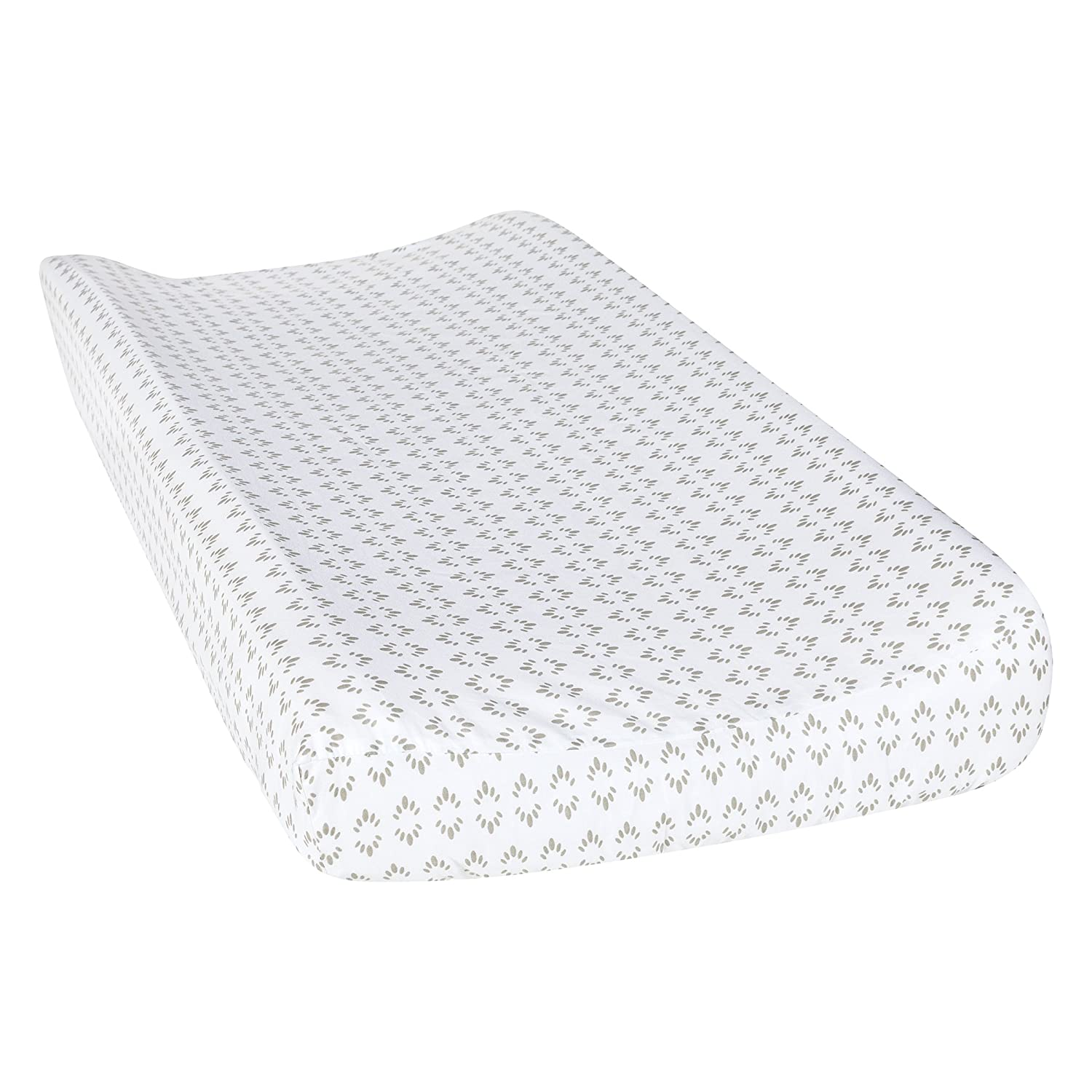 Trend Lab Art Deco Burst Changing Pad Cover, Gray/White 102681