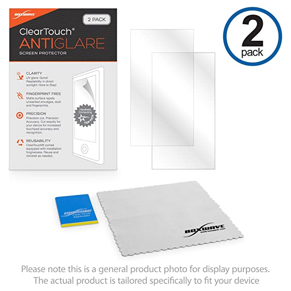 Garmin Zumo 595LM Screen Protector, BoxWave [ClearTouch Anti-Glare (2-Pack)] Anti-Fingerprint Matte Film Skin for Garmin Zumo 595LM, 590LM