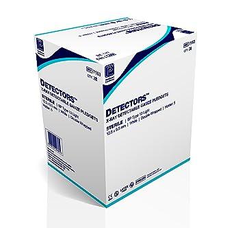 Premier detectores estéril detectables por rayos pledgets 0,95 x 1,25 cm)