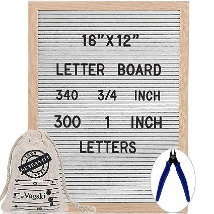 Cartel VAG069 de fieltro blanco con 640 letras, números y ...