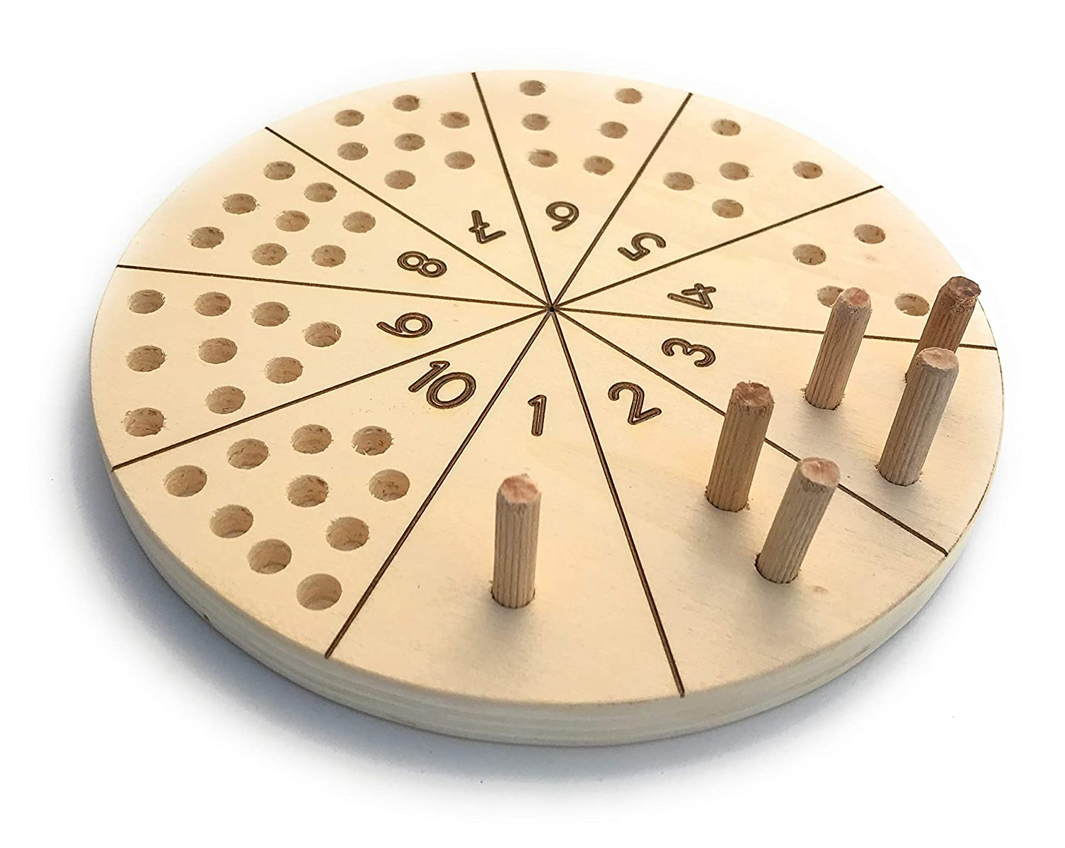 Number counting board, Montessori counting board, Ten board, Numbers board, Handmade learning toy, Board game, Montessori materials