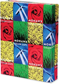 Amazon Com Mohawk Color Copy 100 Recycled Paper Smooth Finish 96 Bright Pc 28 Lb 11 X 17 Inch Fsc And Green Seal Certified 500 Sheets Ream Sold As 1 Ream White Shade 54 302 Multipurpose Paper Office Products
