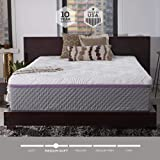 Sleep Innovations Alden 14-inch Memory Foam Mattress, Bed in a Box, Quilted Cover, Made in the USA, 10-Year Warranty - Queen Size