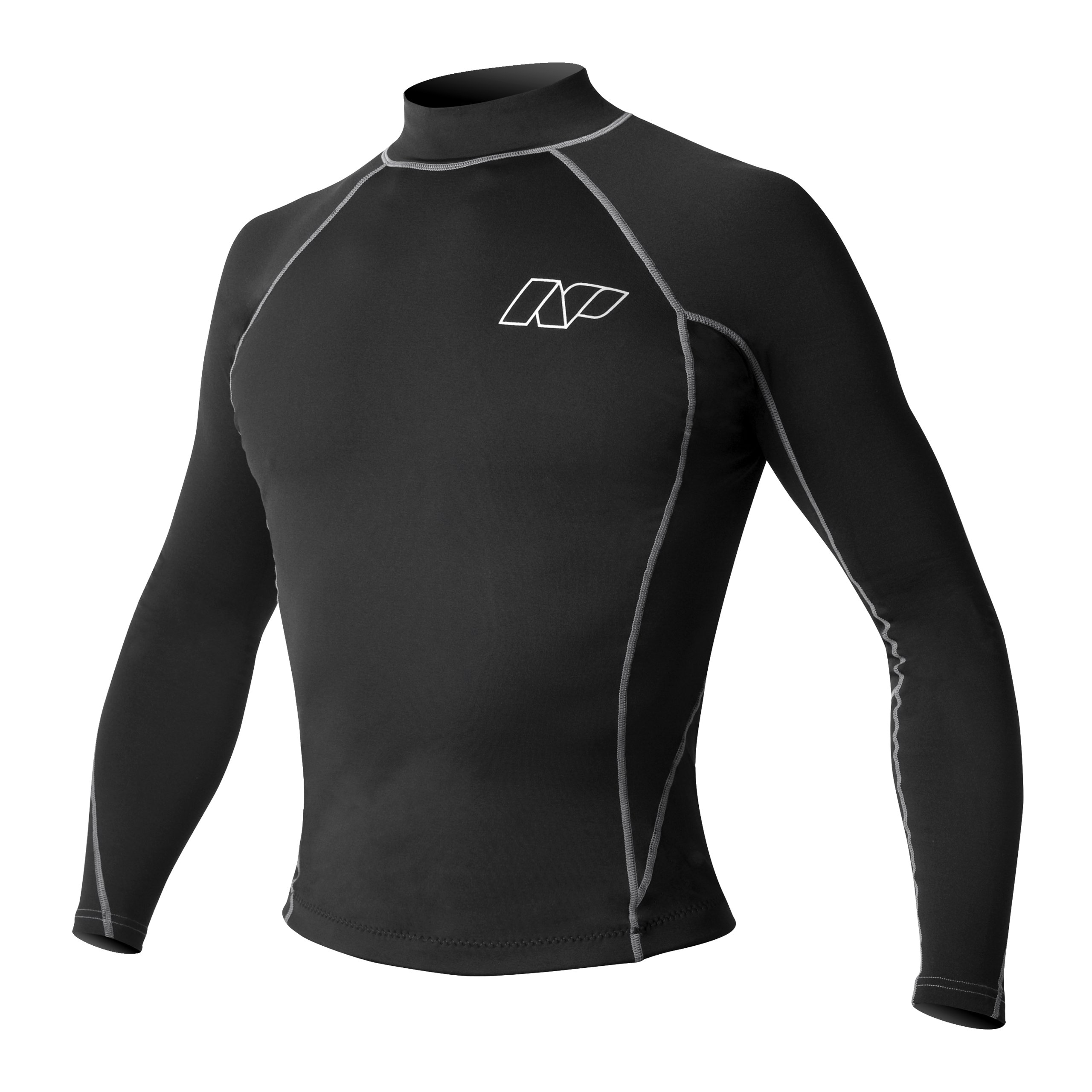 NP Surf Themalite Long Sleeve Rashguard Shirt, Black, Small