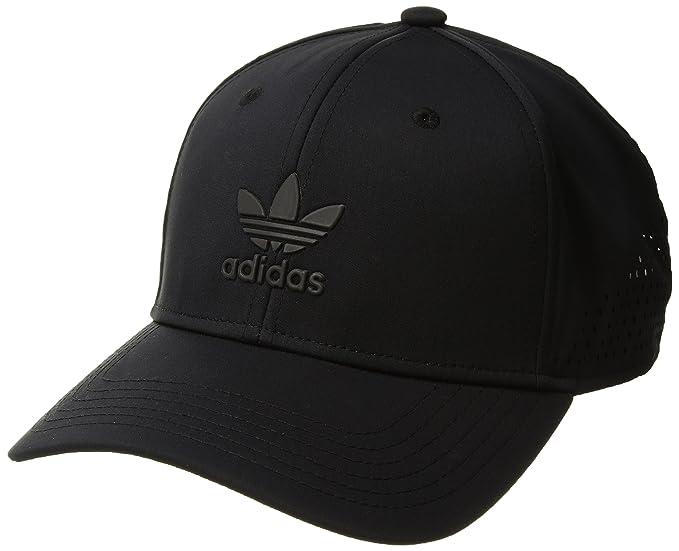 8cdd57c883 adidas Men's Originals Tech Mesh Structured Snapback Cap, Black/Black, One  Size