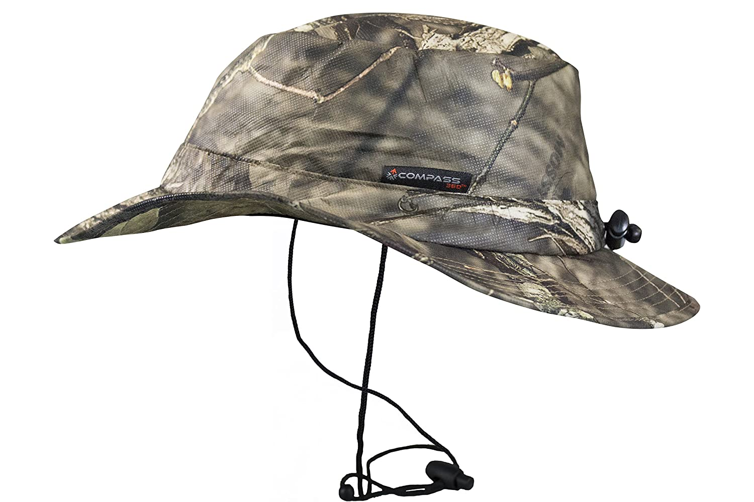 a5ab883995a Amazon.com   Compass 360 RainTek Waterproof Camo Bucket Hat (Mossy Oak  Bottomland)   Sports   Outdoors
