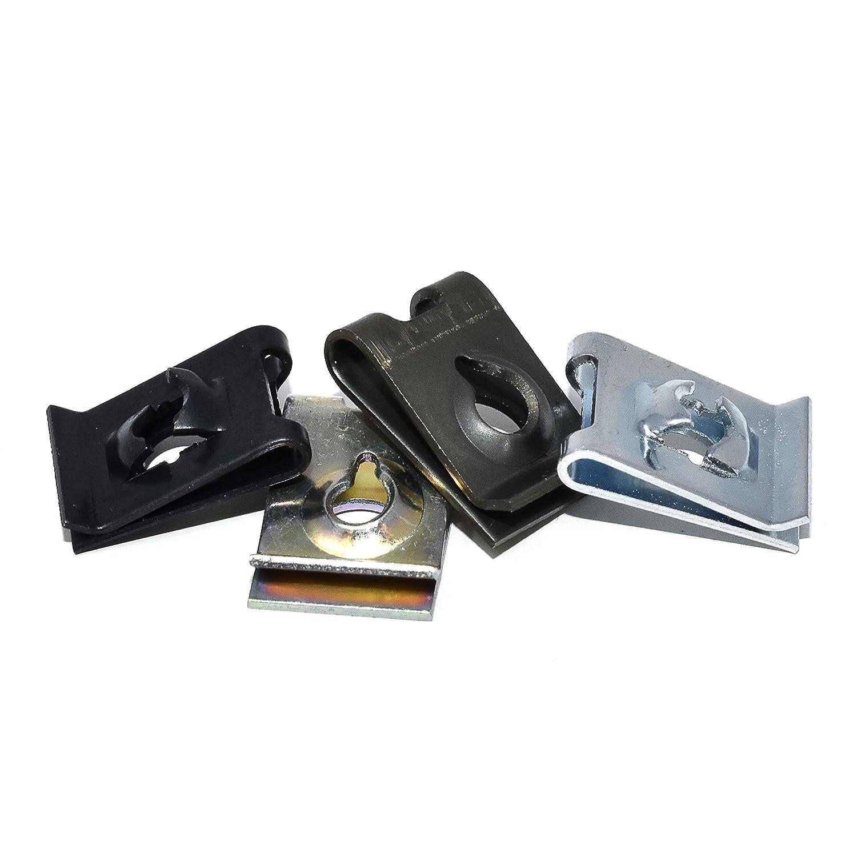 Pack of 10 x Bright Zinc Plated No. 4 U Nuts Falcon Workshop Supplies Ltd