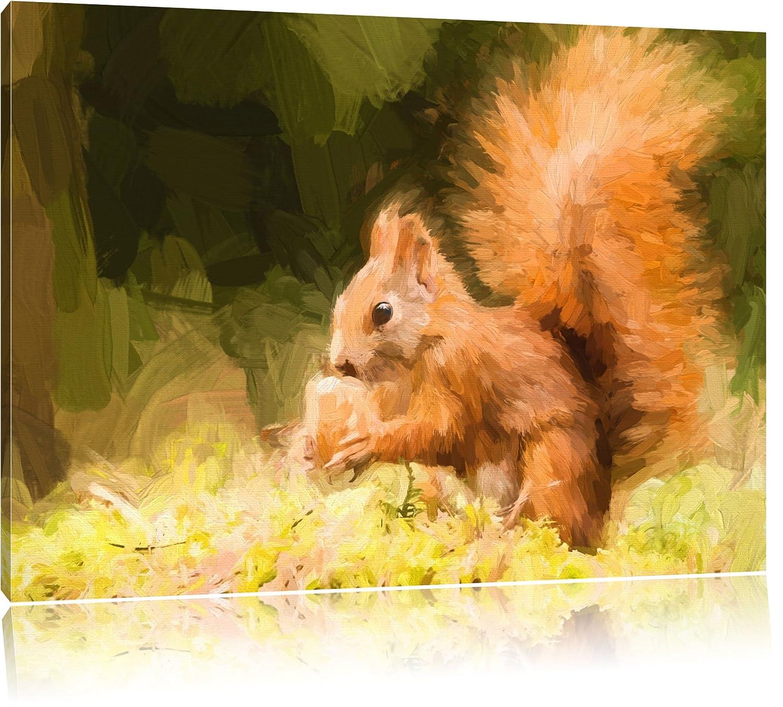 Kleines Eichhörnchen Bild auf Leinwand, XXL riesige Bilder fertig ...