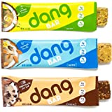 Dang Bar - KETO CERTIFIED, Low Carb, Low Sugar, Plant Based, Gluten Free, Real Food Snack Bar, 2-3g Sugar, 4-5g Net Carbs, No Sugar Alcohols or Artificial Sweeteners, 12 Count (3 Flavor Variety Pack)