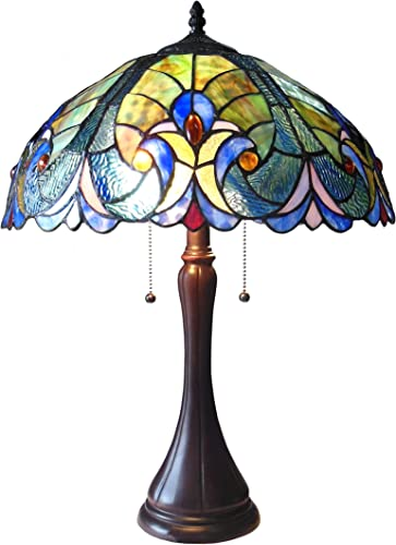 Chloe Lighting CH16780VT16-TL2 Amor Tiffany-Style Victorian 2-Light Table Lamp with Shade, 21.3 x 15.7 x 15.7